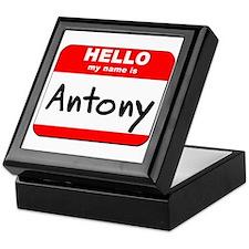 Hello my name is Antony Keepsake Box