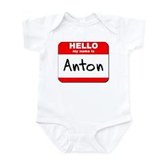 Hello my name is Anton Infant Bodysuit