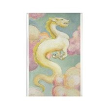 White Dragon Rectangle Magnet