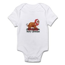 Poinsettia Sheltie Infant Bodysuit