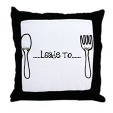 Spooning Leads to Forking Throw Pillow