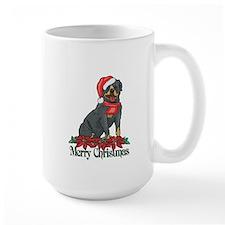 Poinsettia Rottweiler Mug