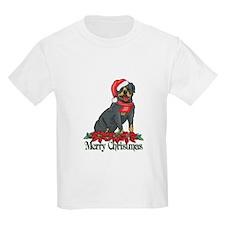 Poinsettia Rottweiler T-Shirt