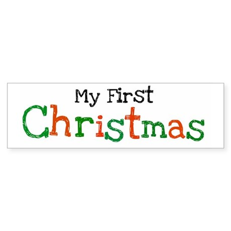My First Christmas Bumper Sticker