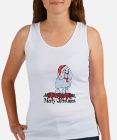 Poinsettia Poodle Women's Tank Top