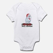 Poinsettia Poodle Infant Bodysuit