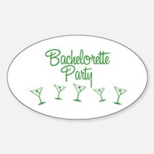Green Multi Bachelorette Party Oval Decal