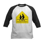 School Crossing Sign Kids Baseball Jersey
