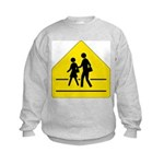 School Crossing Sign Kids Sweatshirt