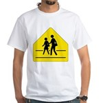 School Crossing Sign White T-Shirt