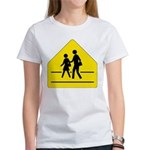 School Crossing Sign Women's T-Shirt