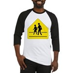 School Crossing Sign Baseball Jersey