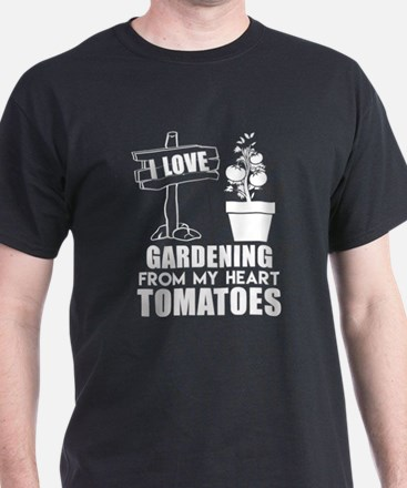 I Love Gardening From My Heart Tomatoes T T-Shirt