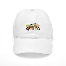 Victoria - Fall Flowers Baseball Baseball Cap