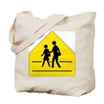 School Crossing Sign - Tote Bag