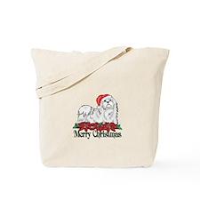 Poinsettia Maltese Tote Bag