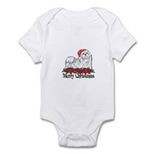 Poinsettia Maltese Infant Bodysuit