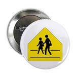 "School Crossing Sign - 2.25"" Button (100 pack)"