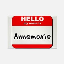 Hello my name is Annemarie Rectangle Magnet