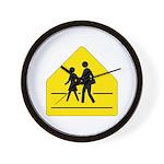 School Crossing Sign - Wall Clock