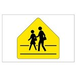 School Crossing Sign - Large Poster