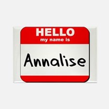 Hello my name is Annalise Rectangle Magnet