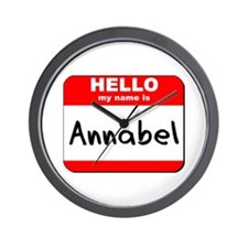 Hello my name is Annabel Wall Clock
