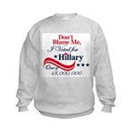 I Voted for HILLARY Kids Sweatshirt