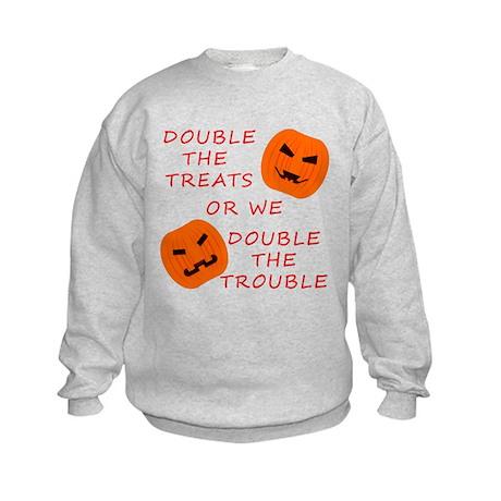 Double Tricks or Treats Kids Sweatshirt