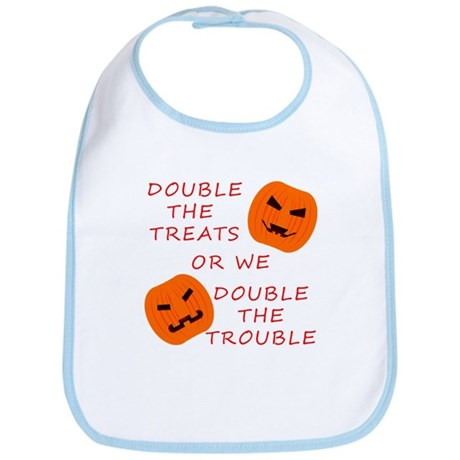 Double Tricks or Treats Bib
