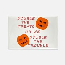 Double Tricks or Treats Rectangle Magnet