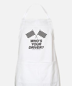 Checker Flag Driver BBQ Apron