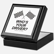 Checker Flag Driver Keepsake Box