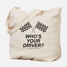 Checker Flag Driver Tote Bag