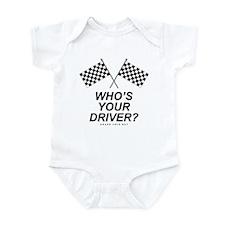 Checker Flag Driver Infant Bodysuit