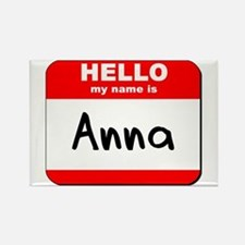 Hello my name is Anna Rectangle Magnet