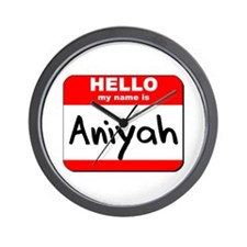 Hello my name is Aniyah Wall Clock