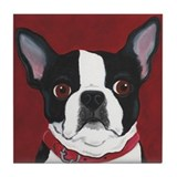 Boston terrier art Drink Coasters