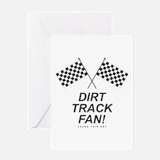 Checker Flag Dirt Greeting Card