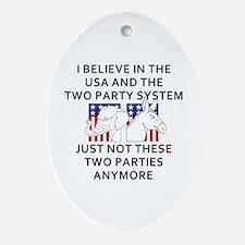 New Politics Oval Ornament