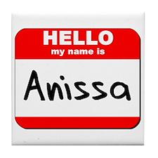 Hello my name is Anissa Tile Coaster