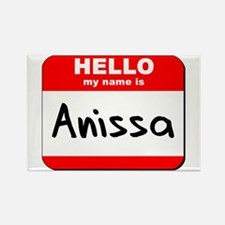 Hello my name is Anissa Rectangle Magnet