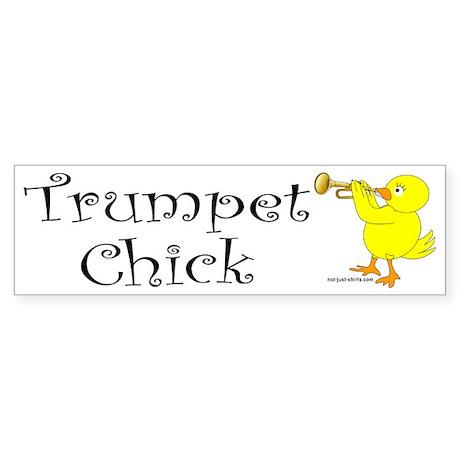 Trumpet Chick Bumper Sticker