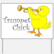 Trumpet Chick Yard Sign
