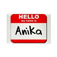 Hello my name is Anika Rectangle Magnet