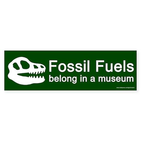 Fossil Fuels Green (sticker)