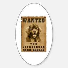 """Wanted"" Leonberger Oval Decal"