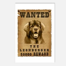 """Wanted"" Leonberger Postcards (Package of 8)"