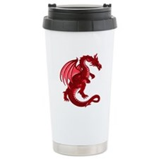 Red Dragon Ceramic Travel Mug