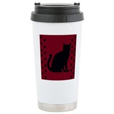Red Kitty Paws Travel Coffee Mug